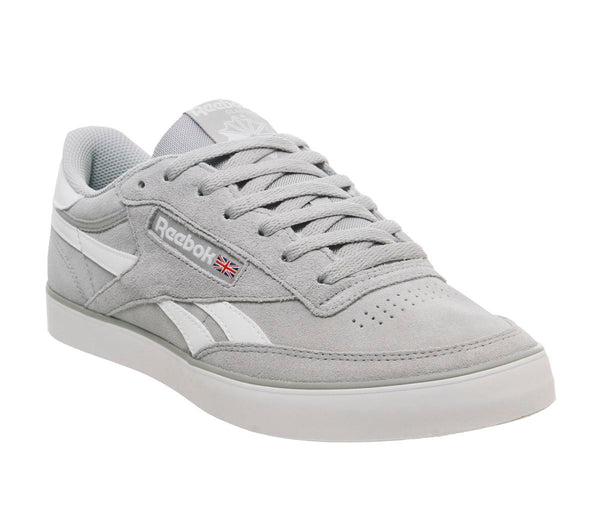 Mens Reebok Revenge Plus True Grey White