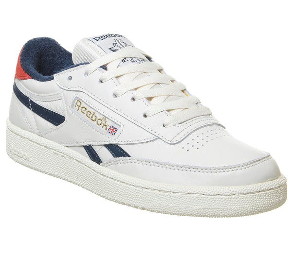 Mens Reebok Revenge Plus Trainers Chalk Collegiate Navy Legacy Red