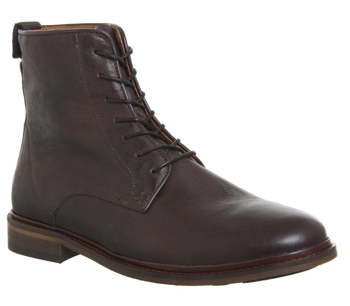 Mens Shoe The Bear Ned Lace Up Boot Brown Leather
