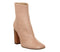 Womens Office All Right Block Heel Boot Nude Leather Wood Effect Heel