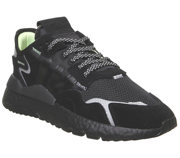 Mens Adidas Nite Jogger Boost Core Black