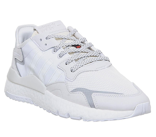 Mens Adidas Nite Jogger Boost Crystal White Crystal White White