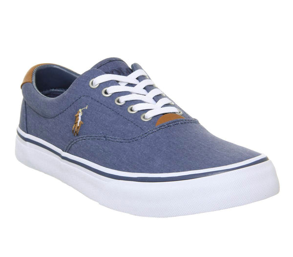 Mens Ralph Lauren Thornton Sneakers Newport Navy