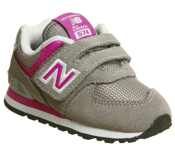 Kids New Balance 574 Infant Grey Grey Pink