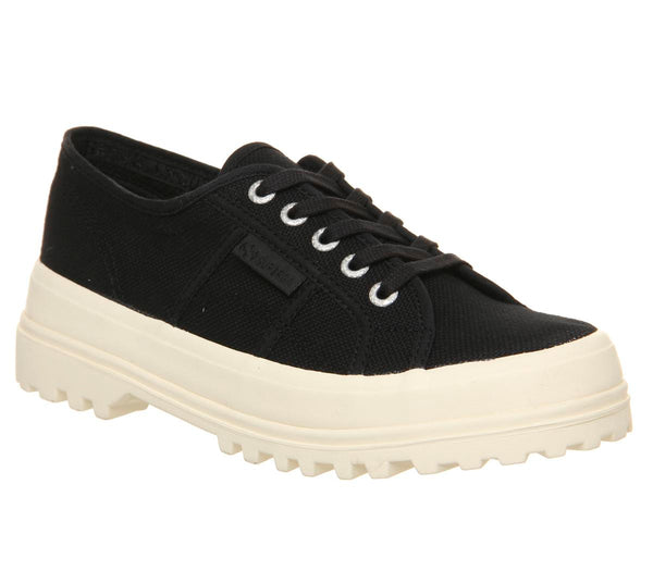 Womens Superga 2555 Black Off White