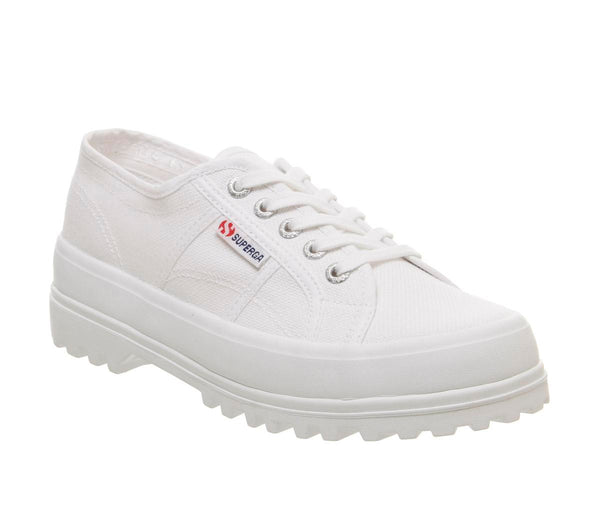 Womens  Superga 2555 White Mono Uk Size 6.5
