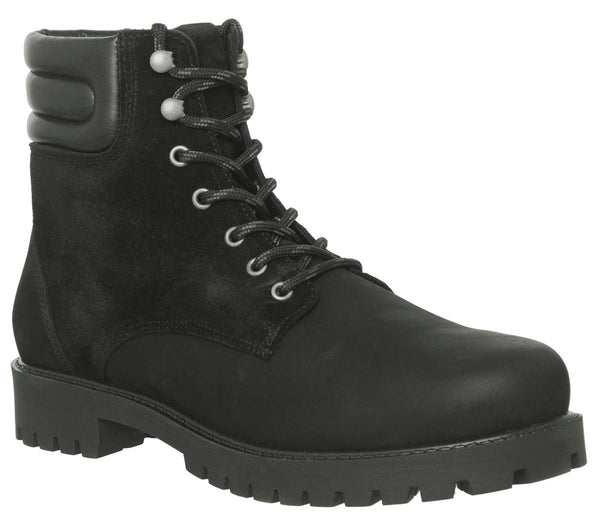 Mens Office Ion Lace Boot Black Nubuck Uk Size 11