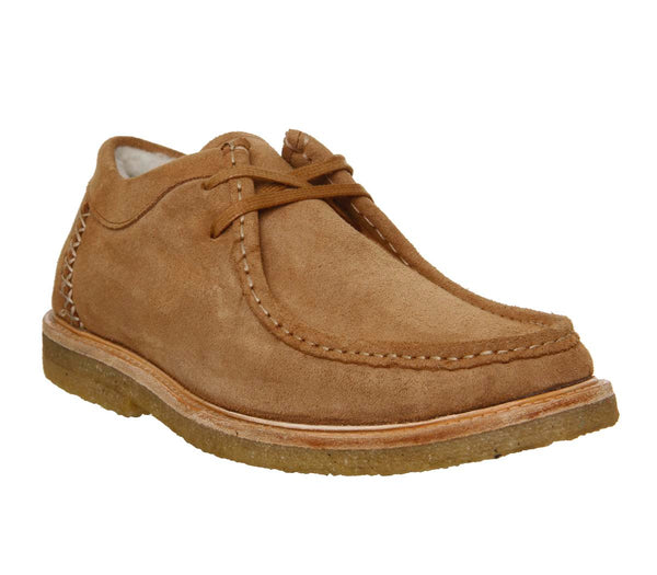 Mens Office Iberian Moccasin Tan Suede