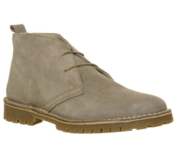 Mens Office Impala Desert Boot Stone Suede Uk Size 9
