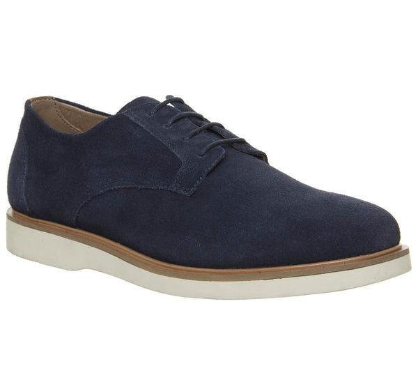 Mens Office Item Derby Navy Suede Uk Size 9
