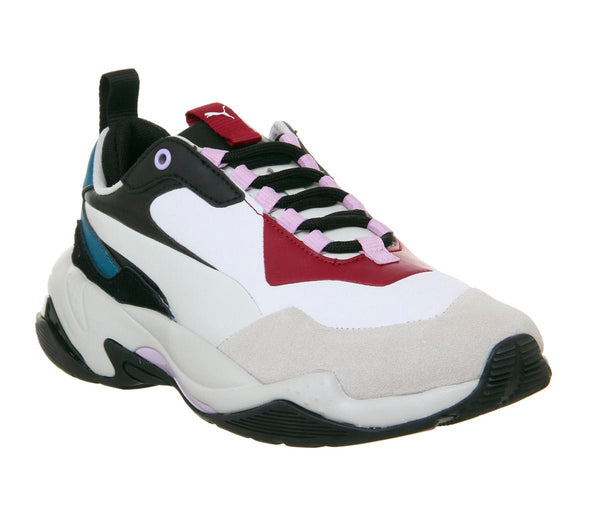 Womens Puma Thunder Rive Glacier Grey Barbados Cherry F Uk Size 7