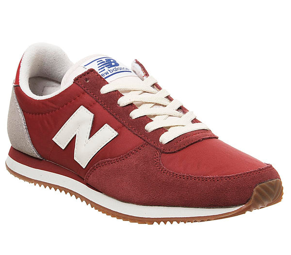 Womens New Balance U220 Burgundy Bone