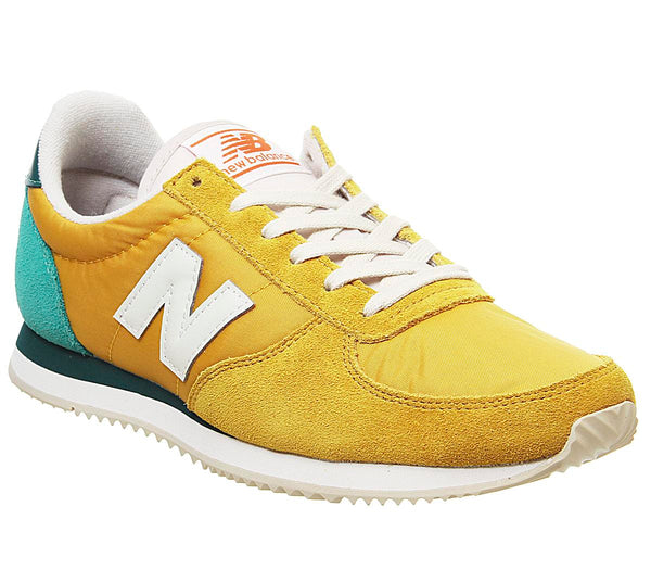 Womens New Balance U220 Varsity Gold White