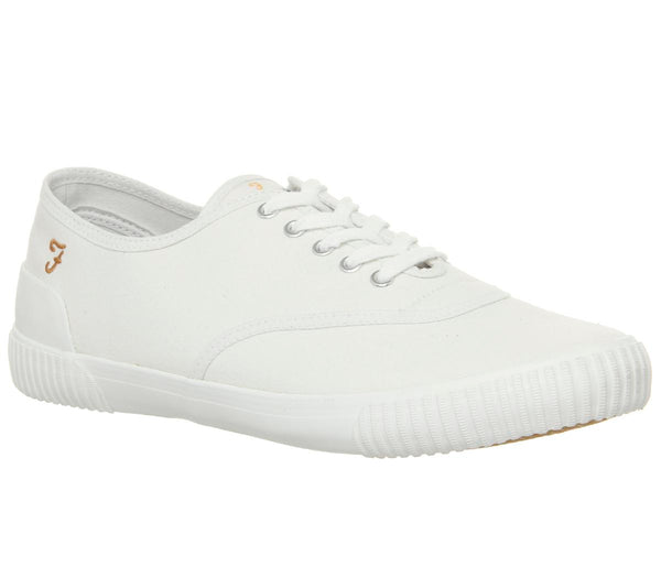 Mens Farah Blink Sneaker White Canvas