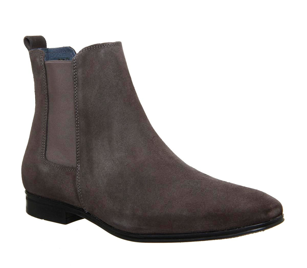 Mens Office Iago Boot Grey Suede