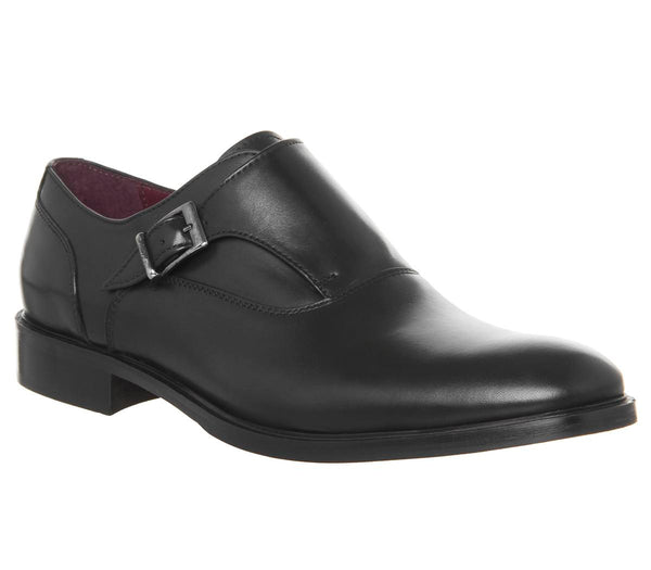 Mens Office Inglese Single Monk Black Leather