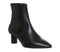 Womens Office Afflict Cylindrical Heel Boot Black Leather Tortoiseshell Heel
