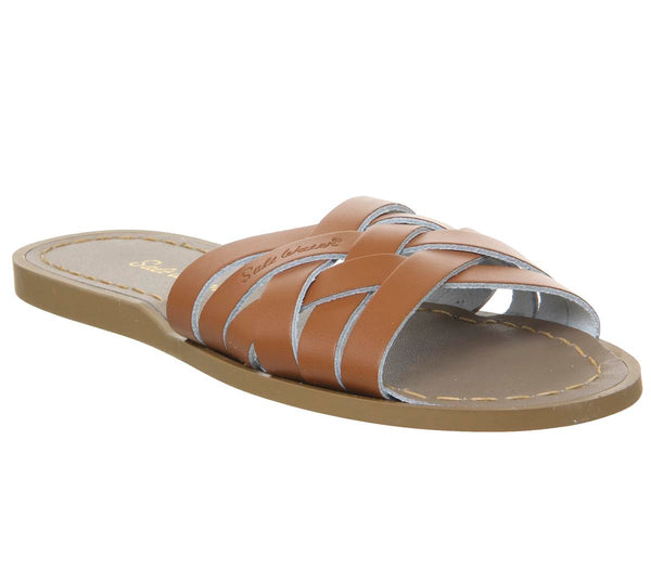 Womens Salt Water Retro Mule Tan Leather