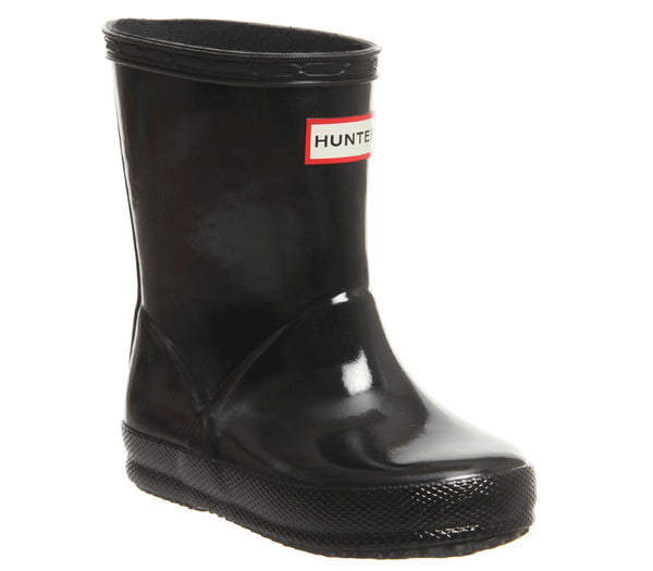 Kids Hunter First Classic Welly Black Gloss Uk Size 6 Infant
