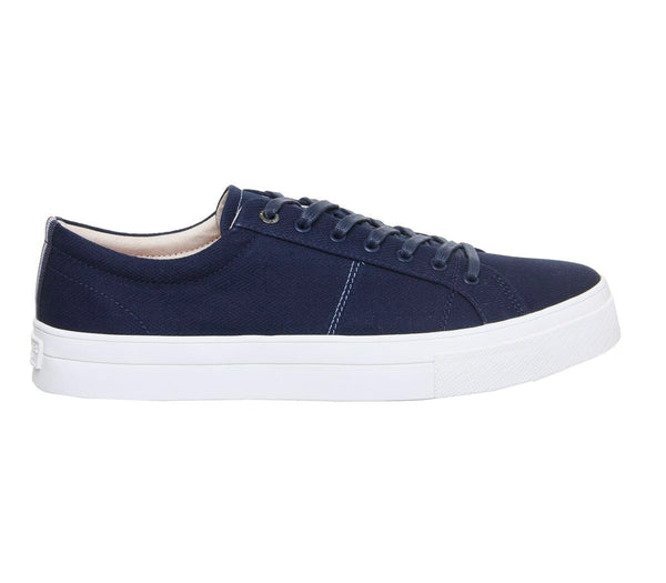 Mens Ted Baker Eshron Sneakers Dark Blue Textile