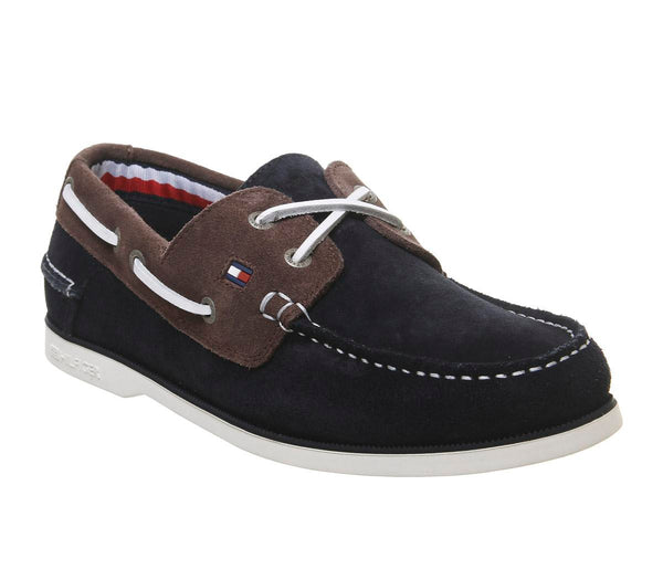 Mens  Tommy Hilfiger Knot Boatshoe Midnight Uk Size 6.5
