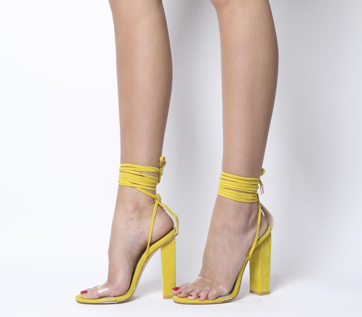 Womens Ego Bello Ankle Wrap Yellow Uk Size 4