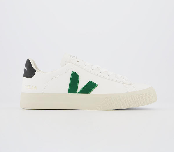 Mens Veja Campo Trainers White Emeraude Black