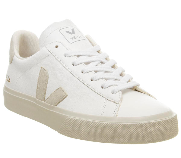 Womens Veja Campo White Natural Leather F Uk Size 4