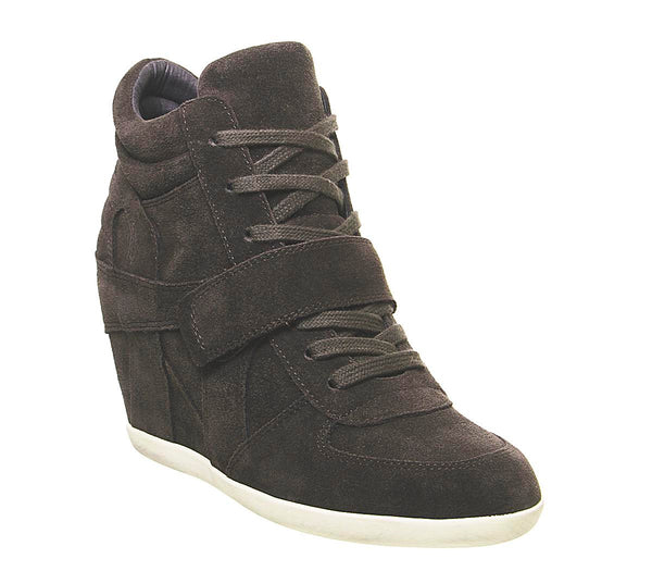 Womens Ash Bowie Hi Top Wedge Sneaker Grey