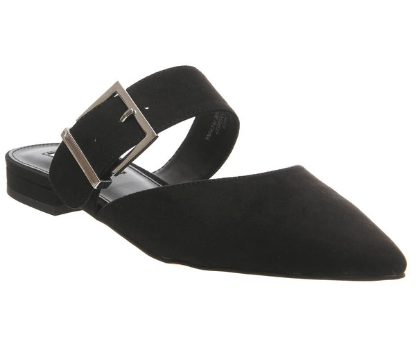 Womens Office Fabio Point Mule Black