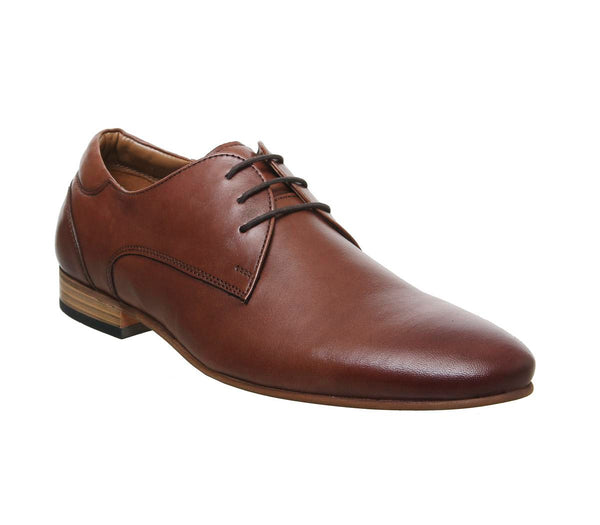 Mens Office Laugh Derby Tan Leather Uk Size 12
