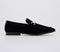 Mens Office Lemming Snaffle Loafer Black Suede