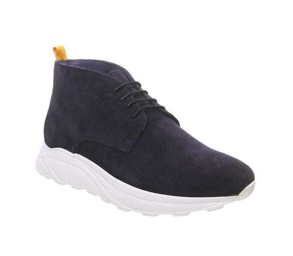 Mens Office Lacrosse Chukka Navy Suede