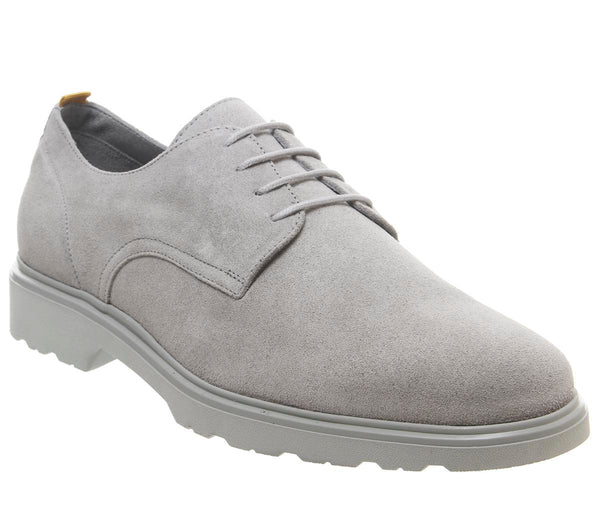 Mens Office Lightweight Derby Grey Suede Uk Size 9