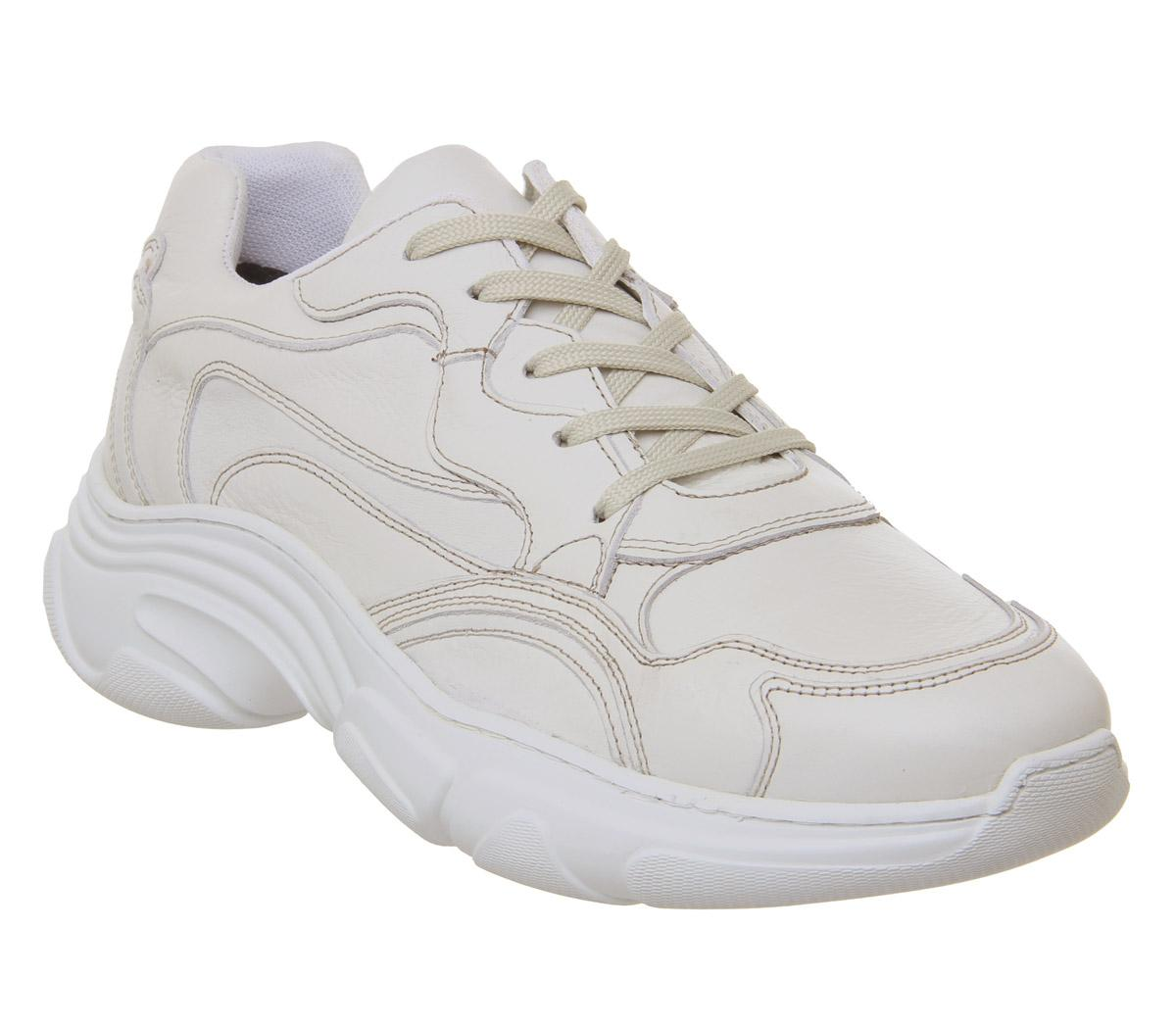 Mens Office Leap Chunky Trainer White