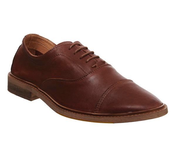 Mens Office Lazy Oxford Tan Leather