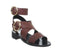 Womens Office Stormy Double Buckle Sandal Brown Leather
