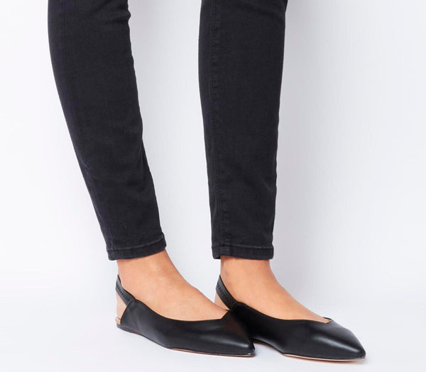 Womens Office OFizz Point Slingback Black