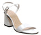Womens Office Moore Flared Heel Sandal White Leather