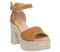 Womens Office Linda Rope Heel Tan Suede