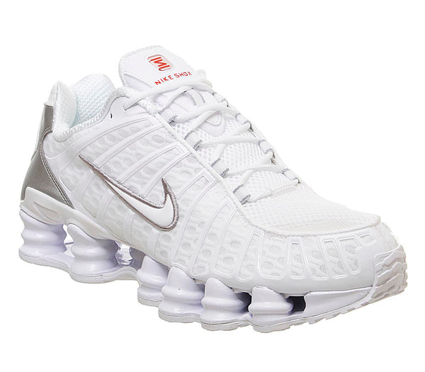 Mens Nike Shox Tl White Metallic Silver Max Orange