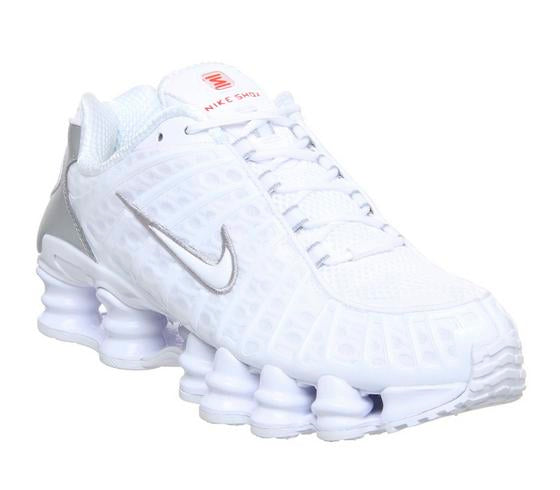 Mens Nike Shox Tl White Metallic Silver Max Orange Uk Size 8