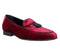 Mens Walk London Neo Tassle Leather Burgundy Velvet