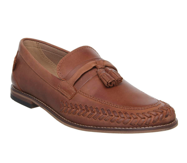 Mens Hudson Cannock Tassel Loafer Calf Tan Uk Size 10