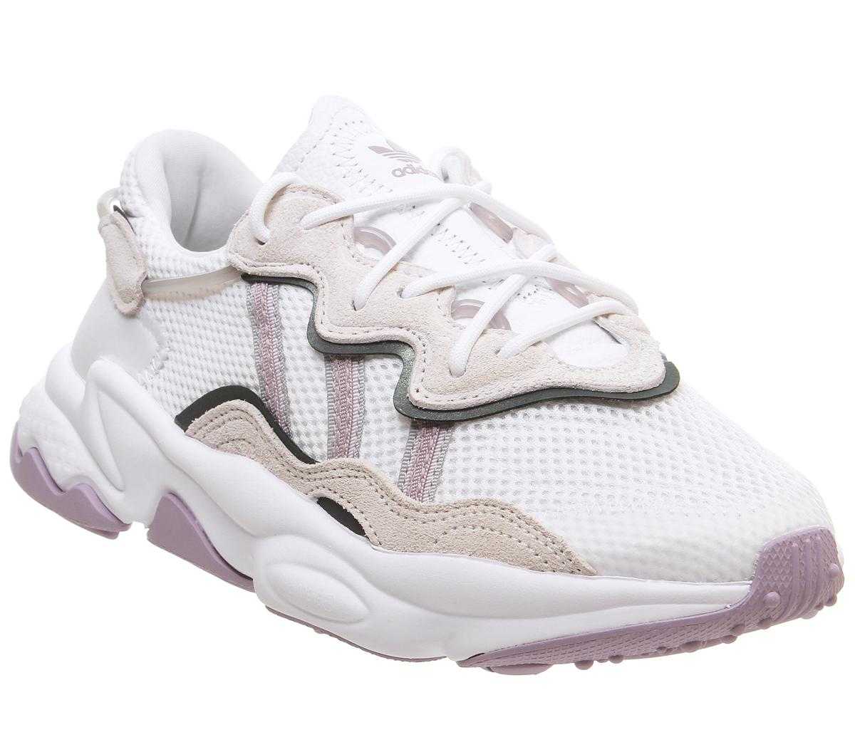 Womens Adidas Ozweego White Soft Vision Ice Purple Off White