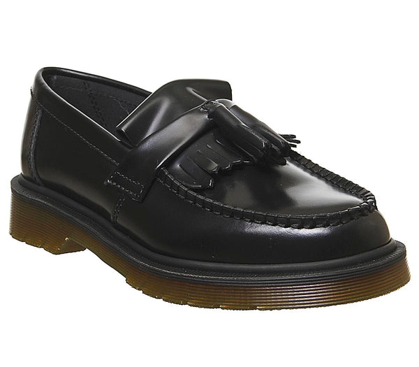 Womens Dr.Martens Adrian Loafer Black Polished Smooth