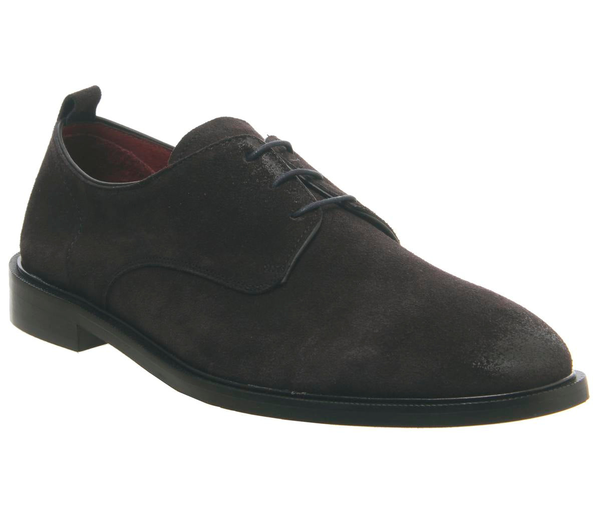 Mens Office Lucas Derby Navy Suede