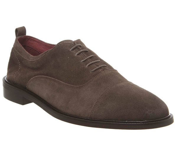 Mens Office Lucas Oxford Taupe Suede