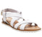 Womens Office Sherwood Cross Strap Espadrille White Leather Snake Wedge