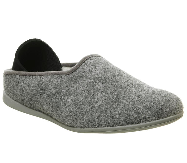 Mens Mahabis Classic Slippers Larvik Light Grey Larvik Grey Sole